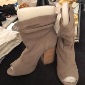 Chinese laundry slouchy open toe booties